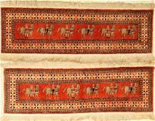 A Pair Of Silk Kashmir