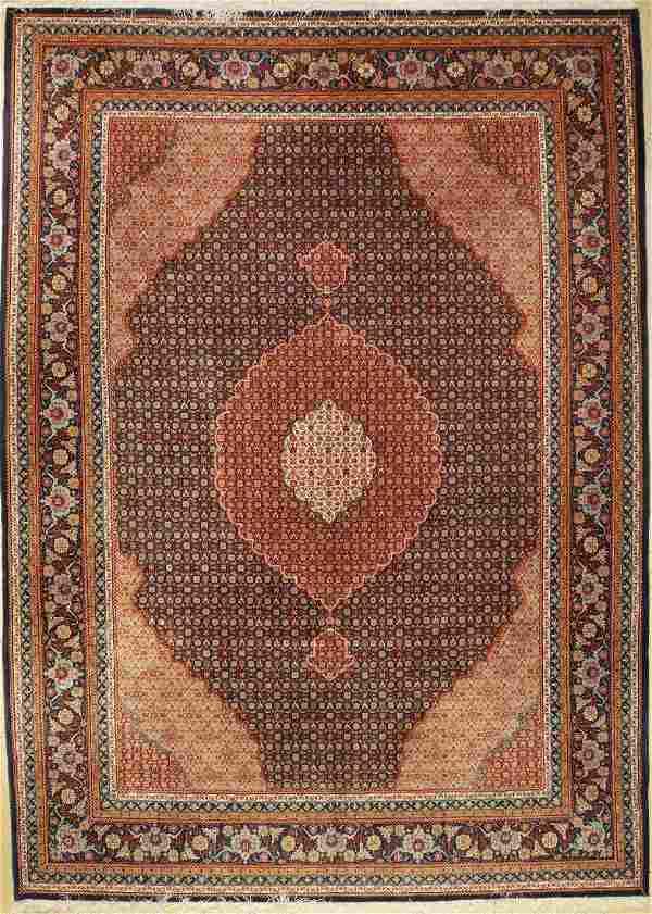 Fine Chinese Tabriz 'Part-Silk' Carpet,