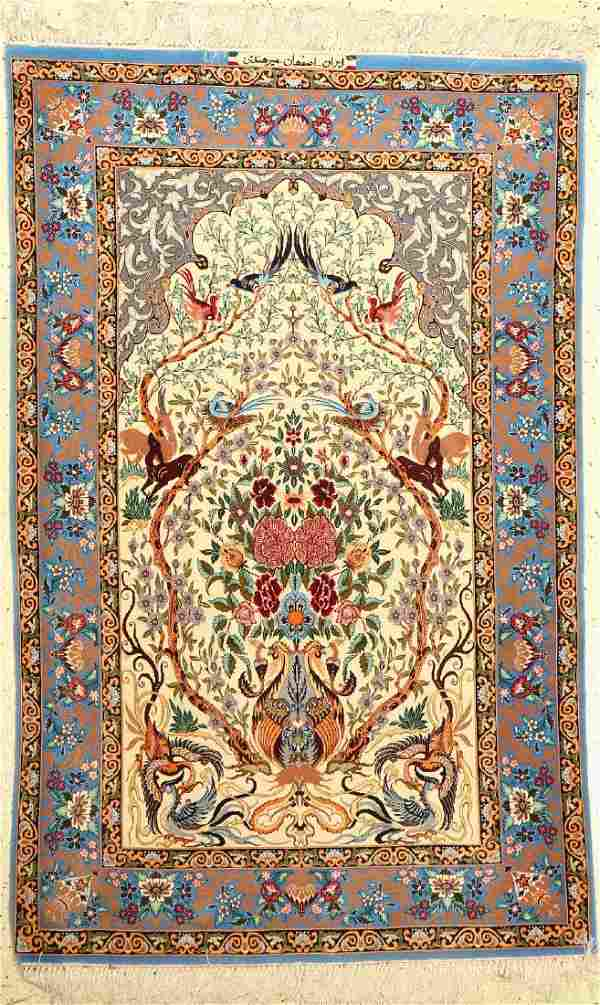 Fine Isfahan 'Mir Hendi' Rug (Signed),