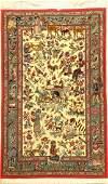 Fine Kurk Qum Rug (Part-Silk)