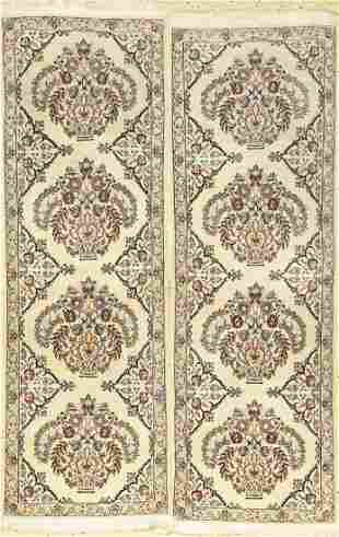 1 Pair Of Fine Nain Rugs