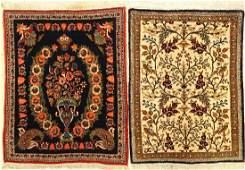 (2 Lots) 1x Kashan 1x Qum Silk Rugs