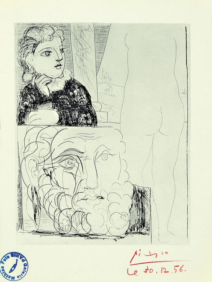 Pablo Picasso, 1881-1973, color offset, lower right
