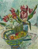 A. Stolz, dated 36, flower still life, tulips in Vase