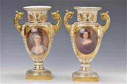 couple Pomp vases, Volkstedter