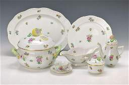 Dinner set for 6 people Herend Hungary 20th c