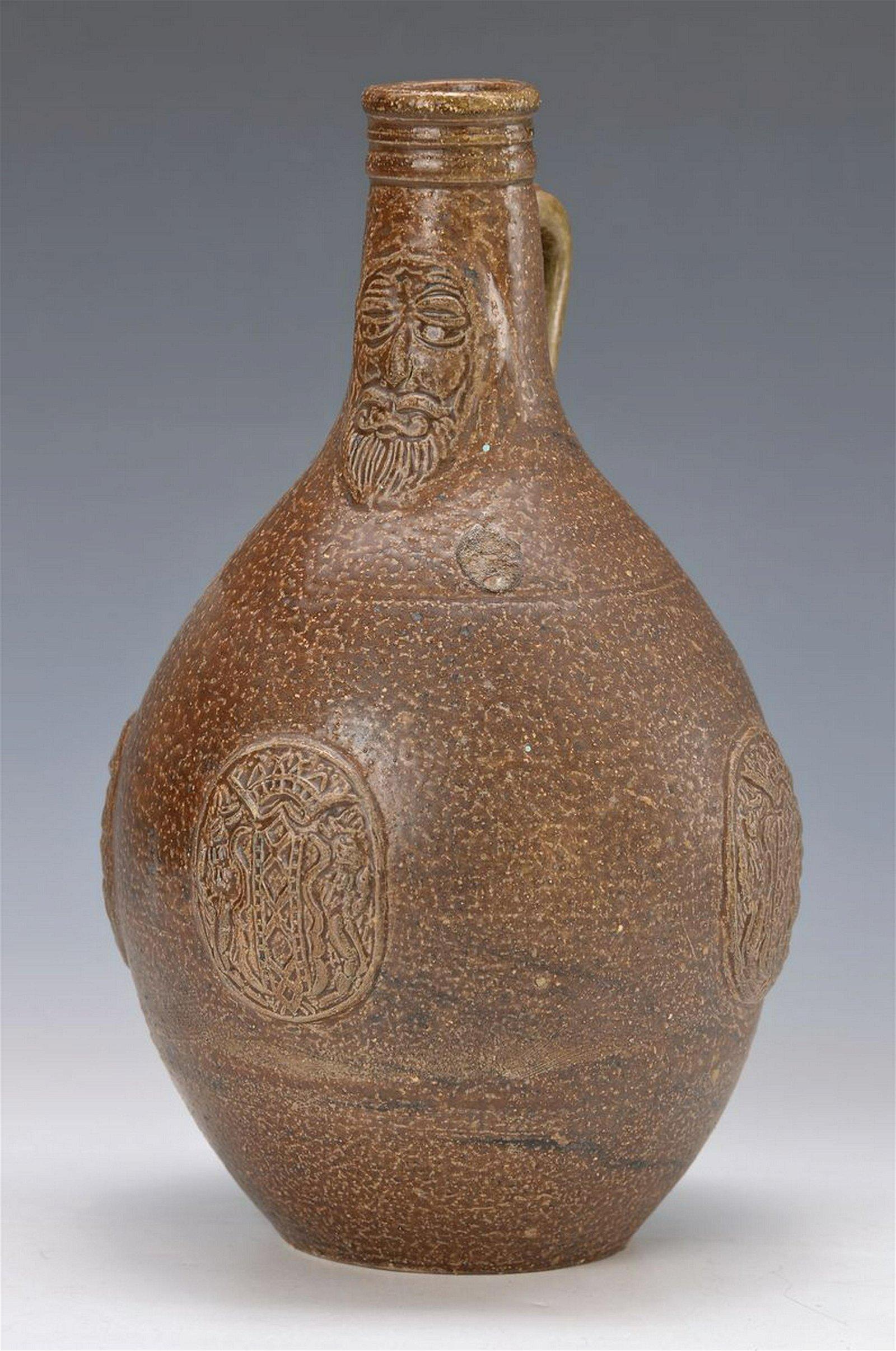 Bartmann jug, Cologne, around 1700, stoneware, brown