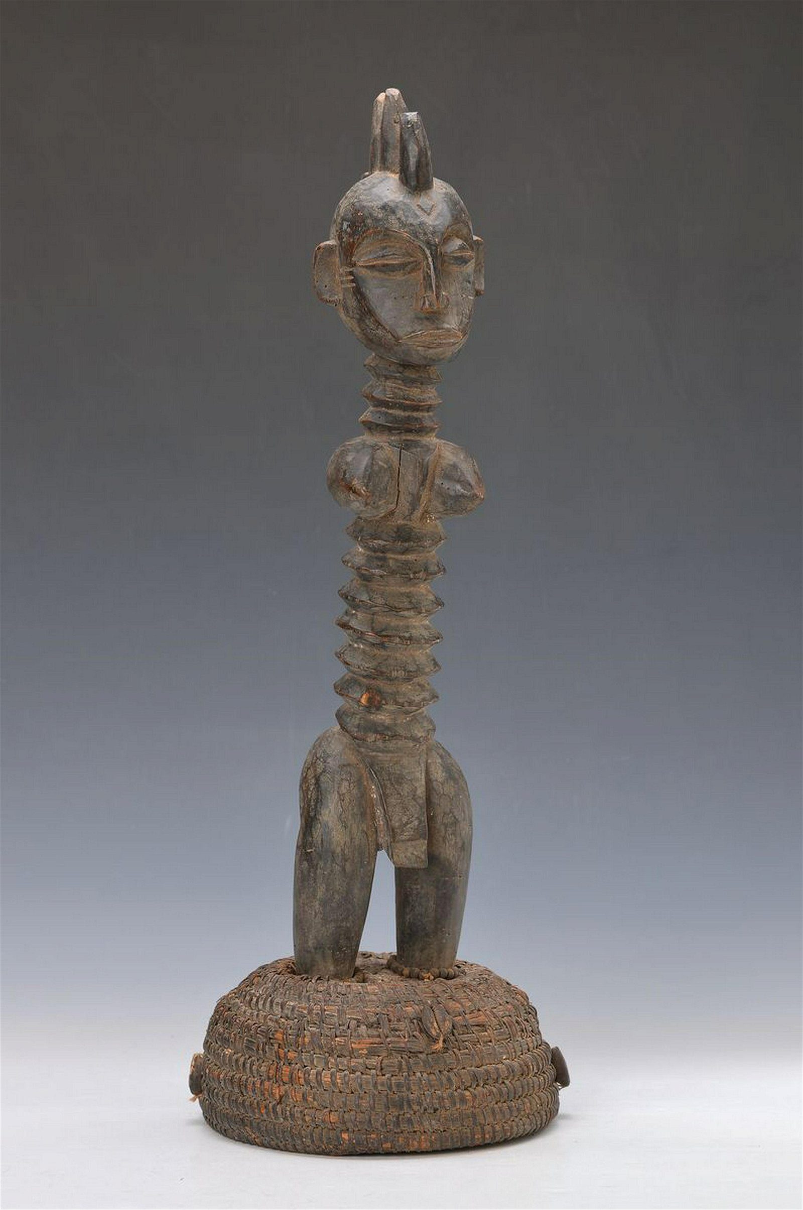 fertility figure, Senufo, approx. 60 years, wood, foot