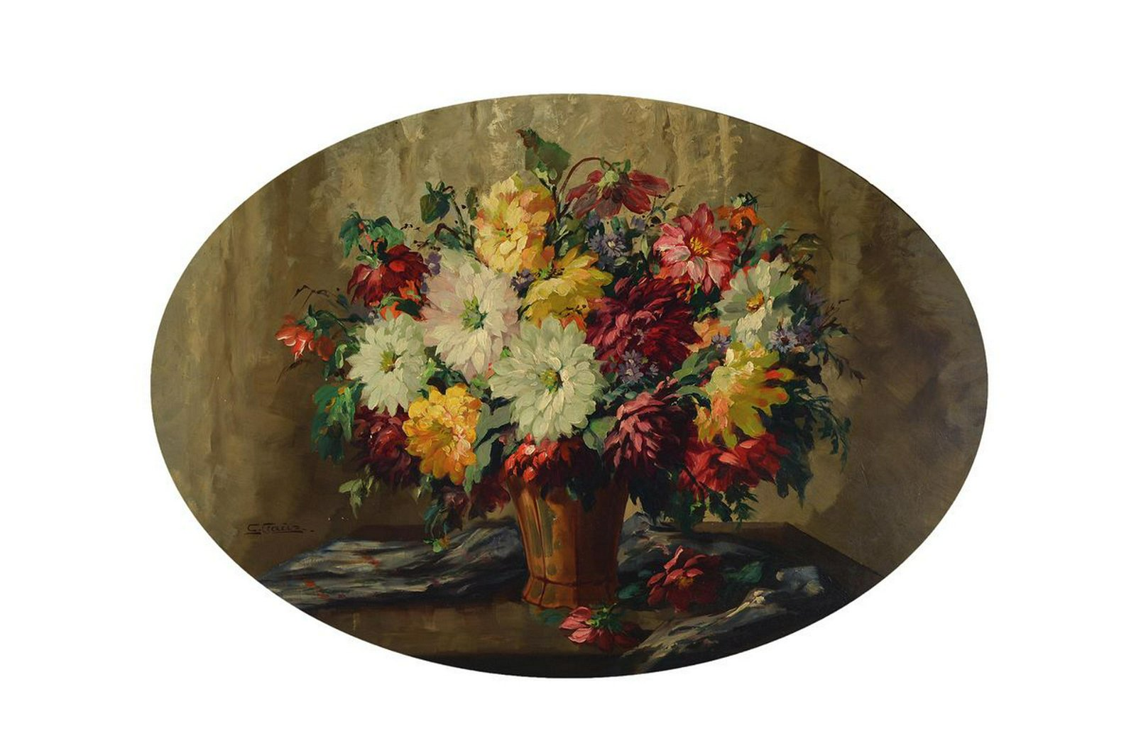 C. Claus, German flower painter, 1st half of the 20th