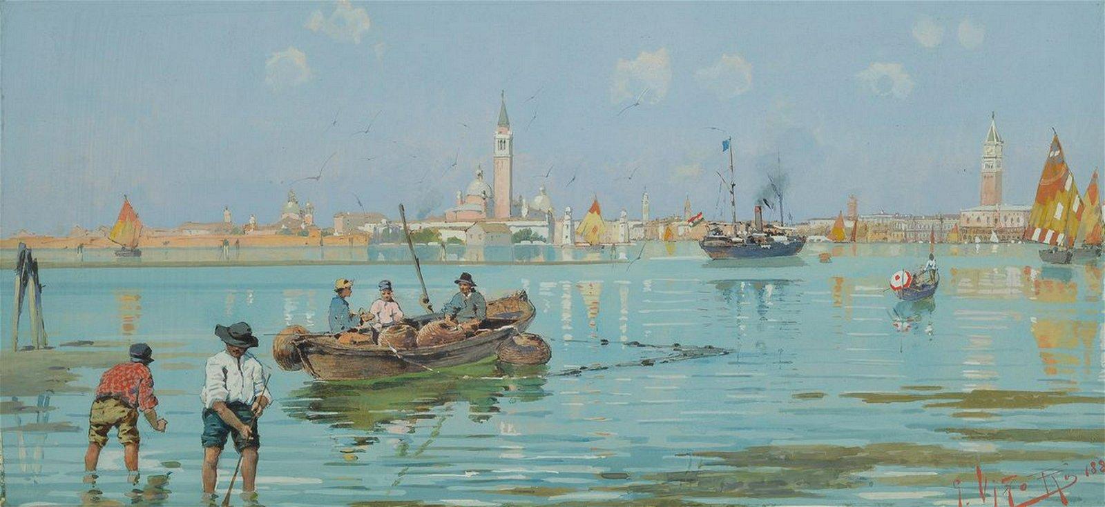 Veduta di Venezia con Basilica di San Marco, Campanile e Palazzo ducale