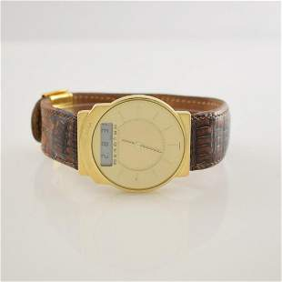 JUNGHANS Mega limited 14k yellow gold wristatch