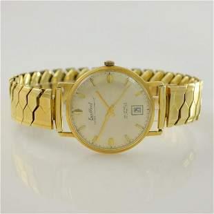 EXCELLENT 14k yellow gold gents wristwatch