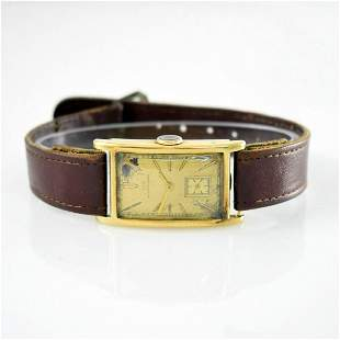 IWC rare 14k yellow gold gents wristwatch