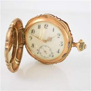 JACCOTTET Watch Co 14k pink gold hunting cased pocket