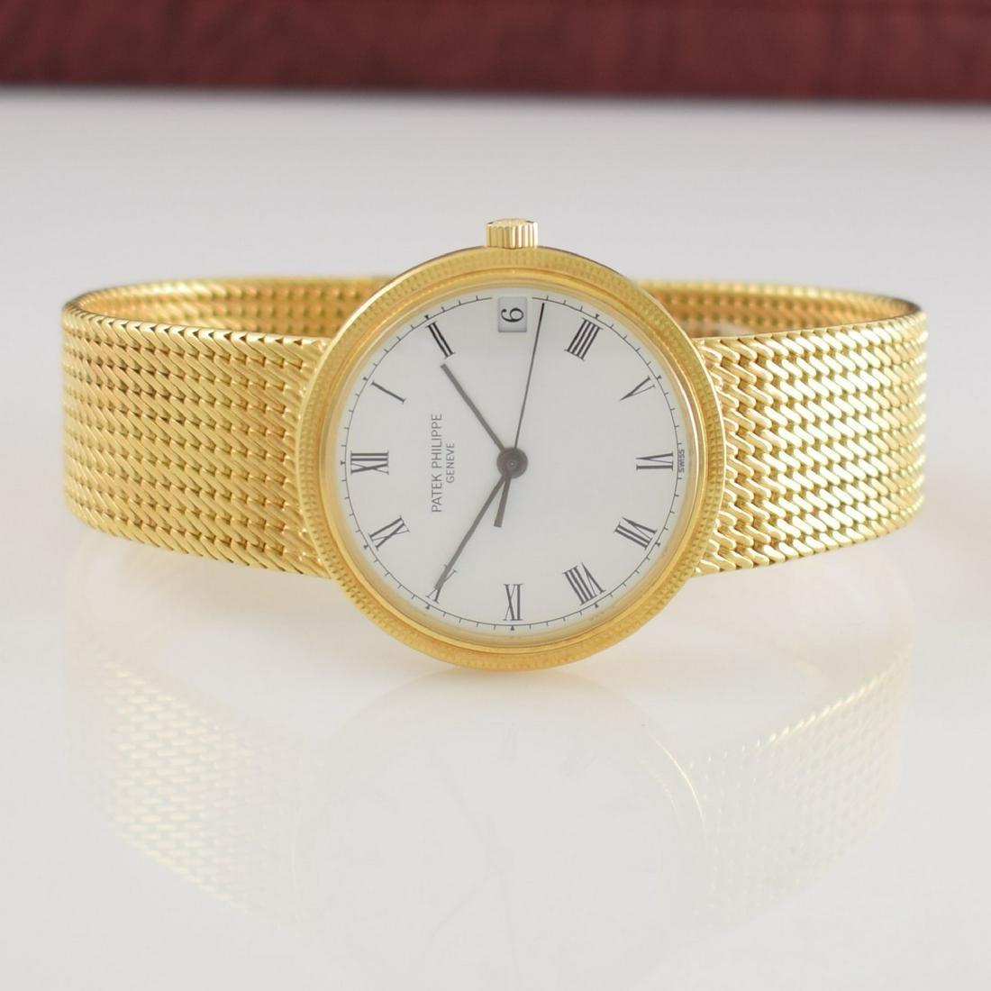 PATEK PHILIPPE gents gold wristwatch Calatrava