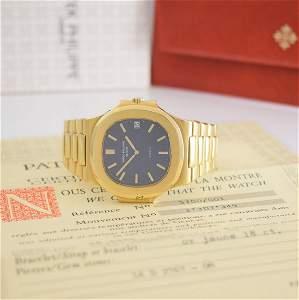 PATEK PHILIPPE/GÜBELIN Nautilus 3700 with certificate