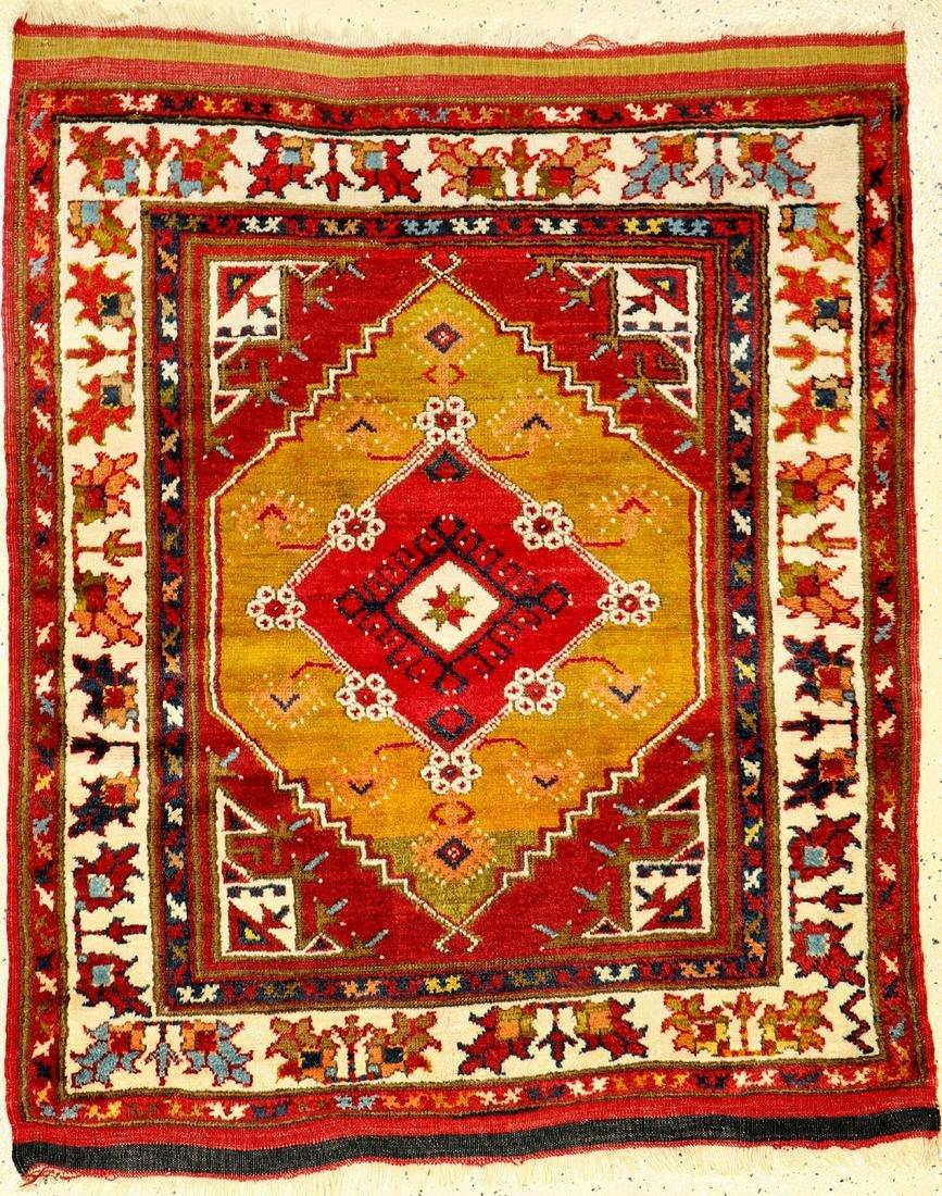 Fine Anatolian 'Double-Niche' Rug (Dazgiri Design),