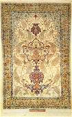 Fine Silk Isfahan 'Saraf' Rug (Signed),