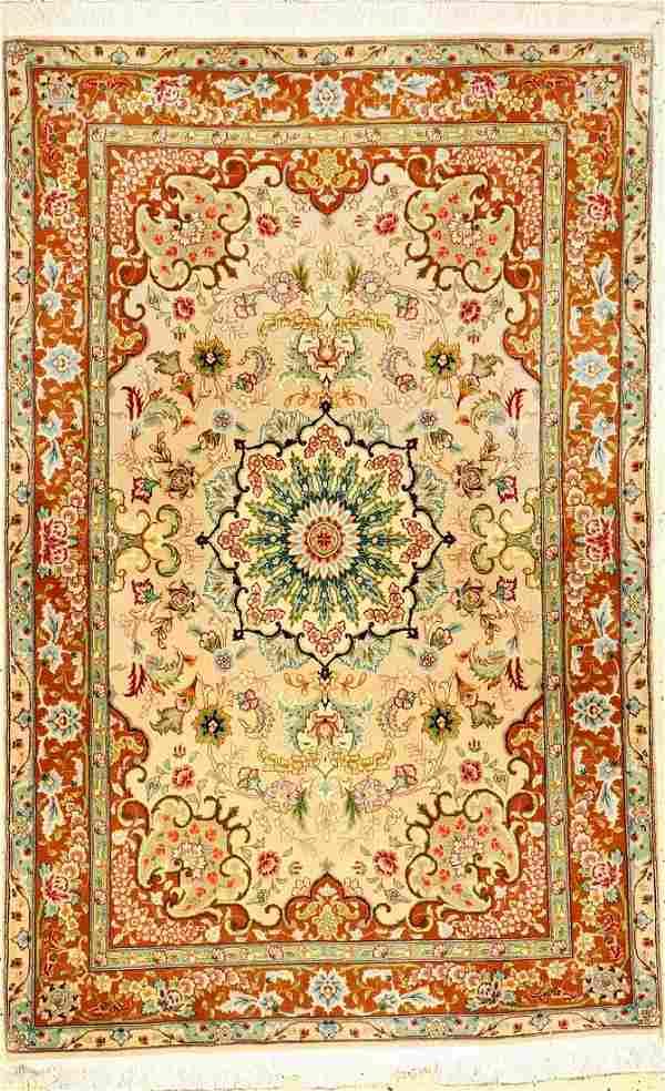 Fine Tabriz 'Part-Silk' Rug (50 RAJ),