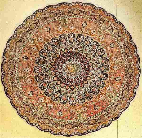 Fine Tabriz 'Part-Silk' Round Rug (50 RAJ),