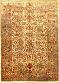 Fine Silk & Metal-Thread Kaisery Carpet,