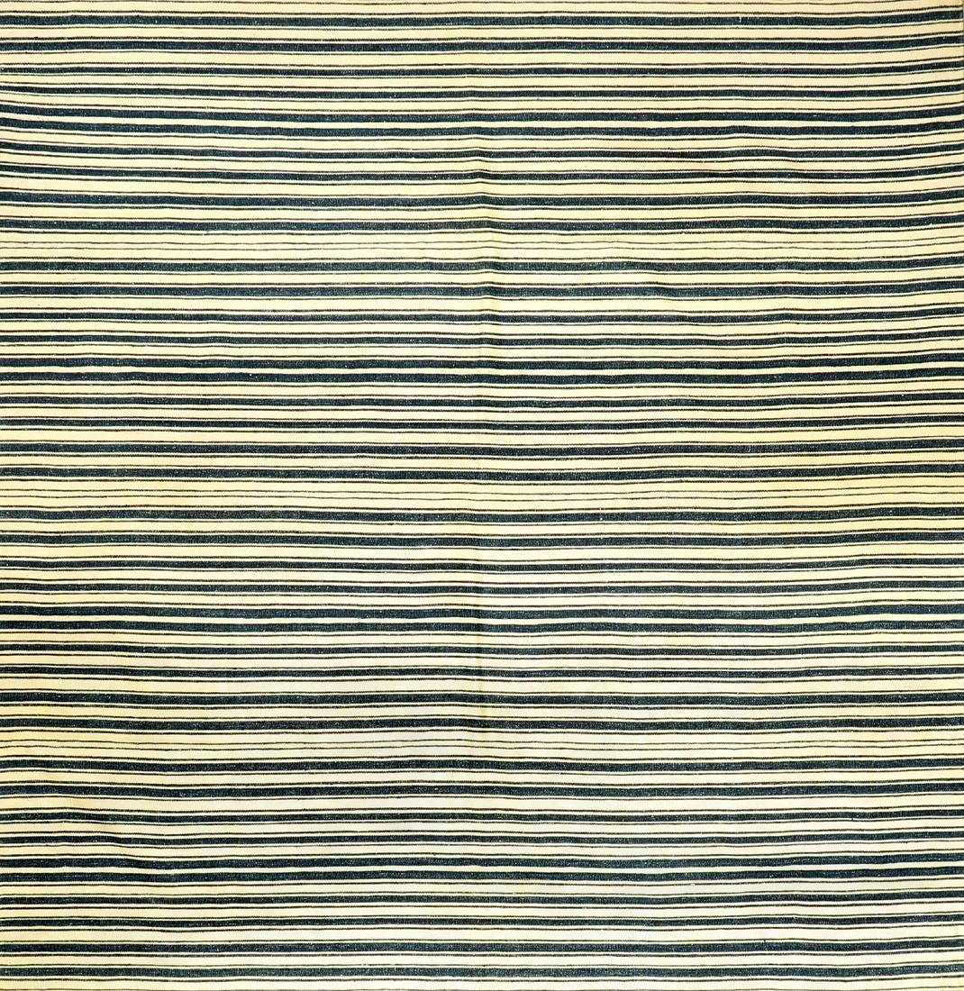 Striped Qashqai Cotton-Djajim 'Flatweave',