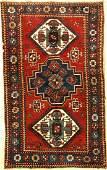 Three Medallion Kazak Rug Lori Pambak Pattern