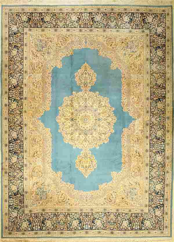 Blue Kirman Carpet (Signed),