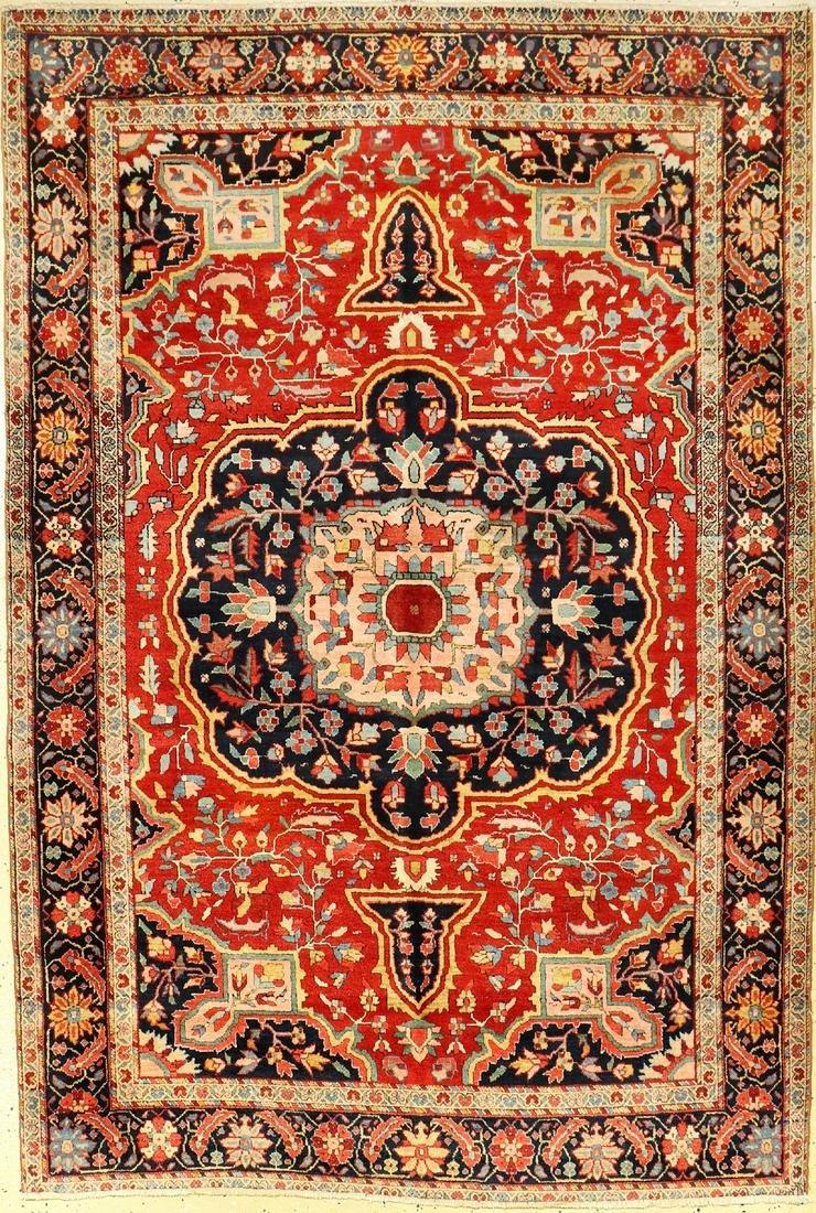 Farahan antique, Persia, around 1900, wool on cotton