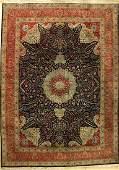 Tabriz fine signed, Persia, c. 1940, cork wool