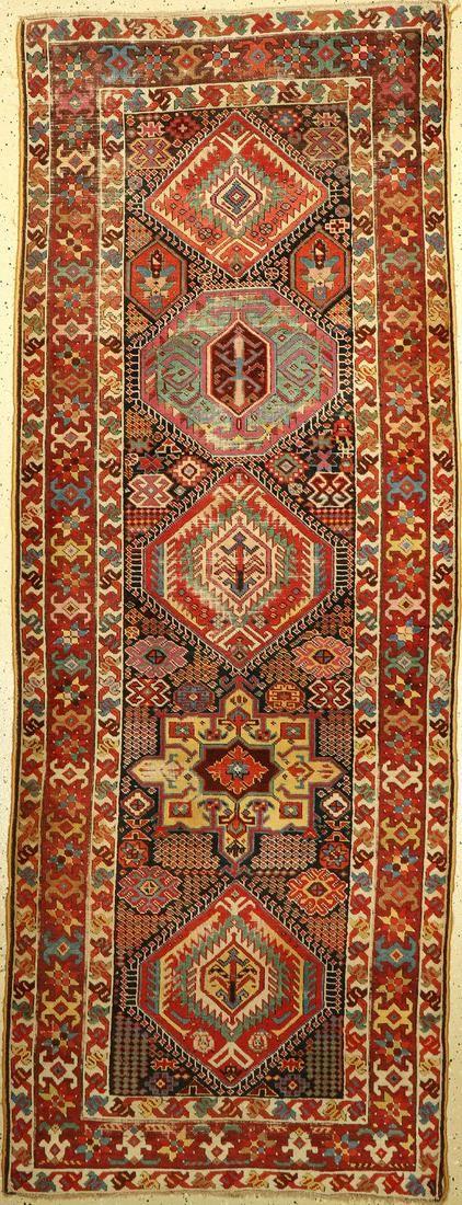 Kurdish runner antique, Persia, 19th century, wool on