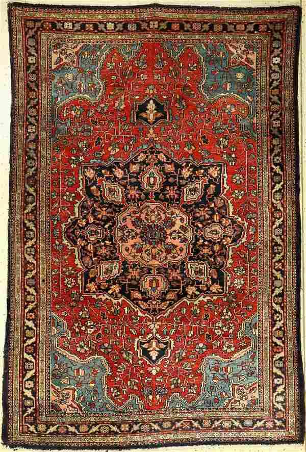 Fine Tafresh old, Persia, around 1940, wool oncotton