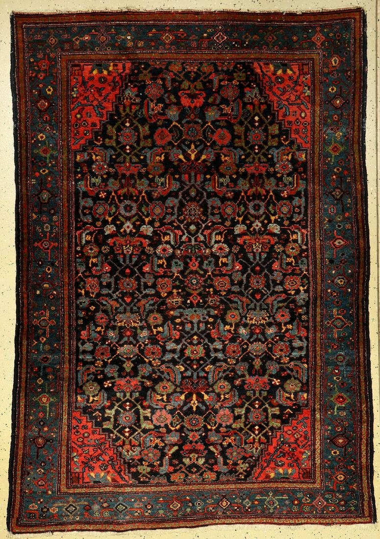 Hamadan old, Persia, around 1940, wool on cotton