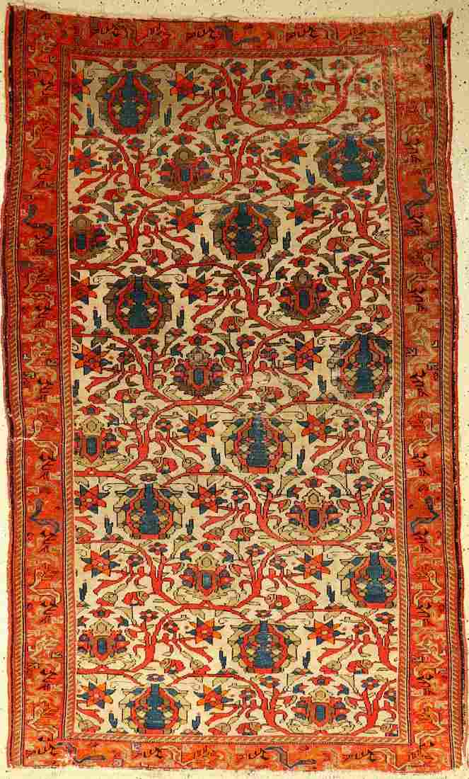 Mischan Malayer antique, Persia, around 1890, wool on