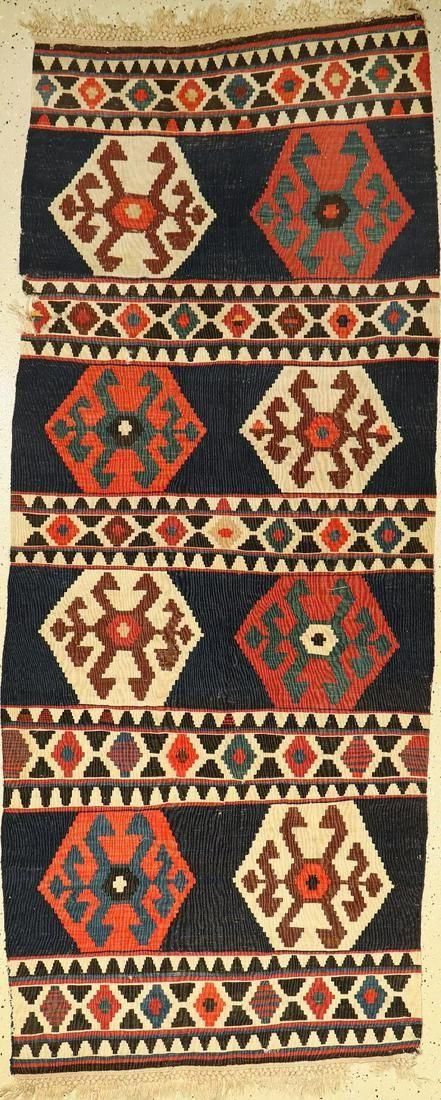 Azeri kilim antique, Caucasus, late 19th century