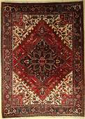 Heriz old, Persia, approx. 50 years, wool on cotton