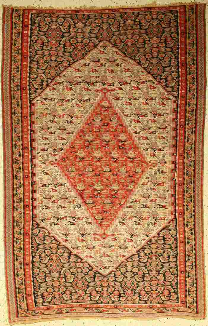 Senneh kilim old, Persia, around 1930, wool onwool