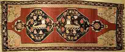 Great Karabagh Kilim old, Caucasus, around 1940, wool