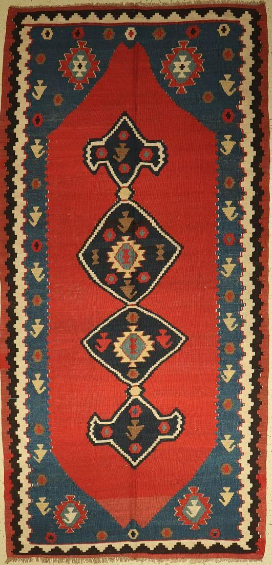 Northwest Kelim old, Persia, around 1940, woolon wool