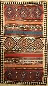 Shahsavan kilim old Persia around 1940 woolon wool