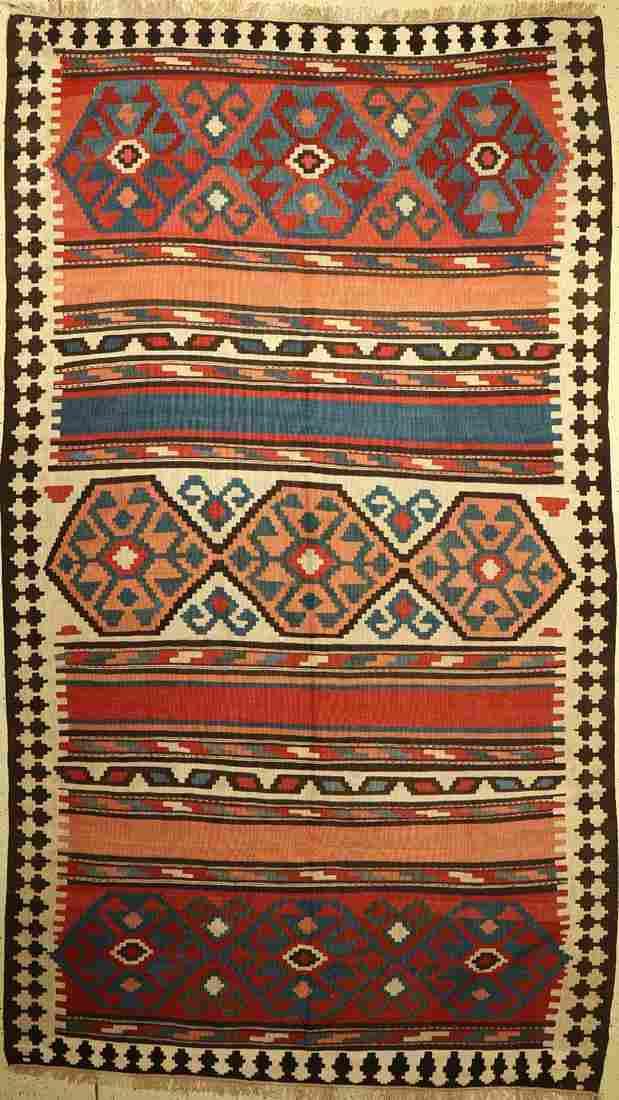 Shahsavan kilim old, Persia, around 1940, woolon wool