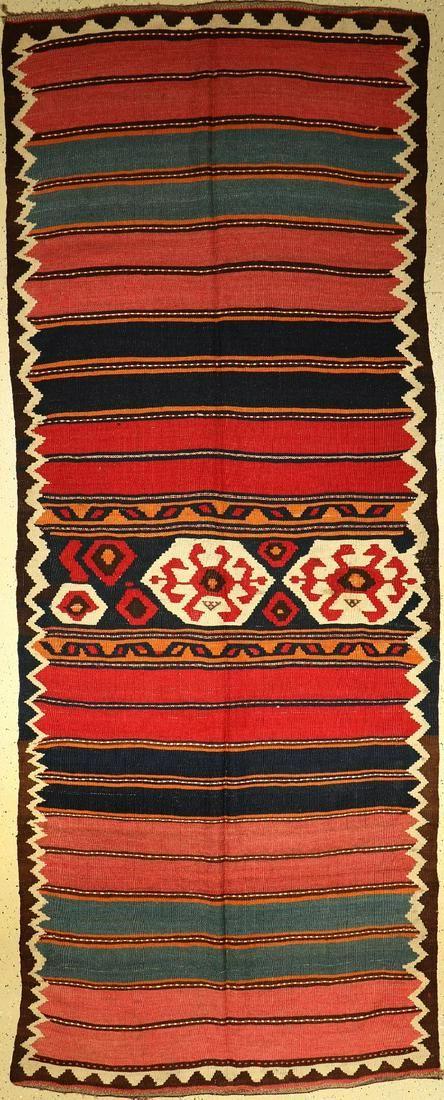 Northwest Kelim old, Persia, approx. 60 years,wool on