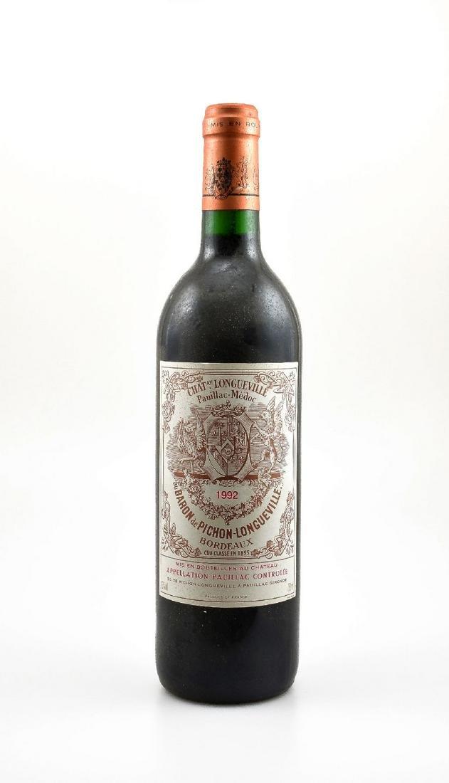 3 bottles of 1992 Chateau Pichon-Longueville au Baron