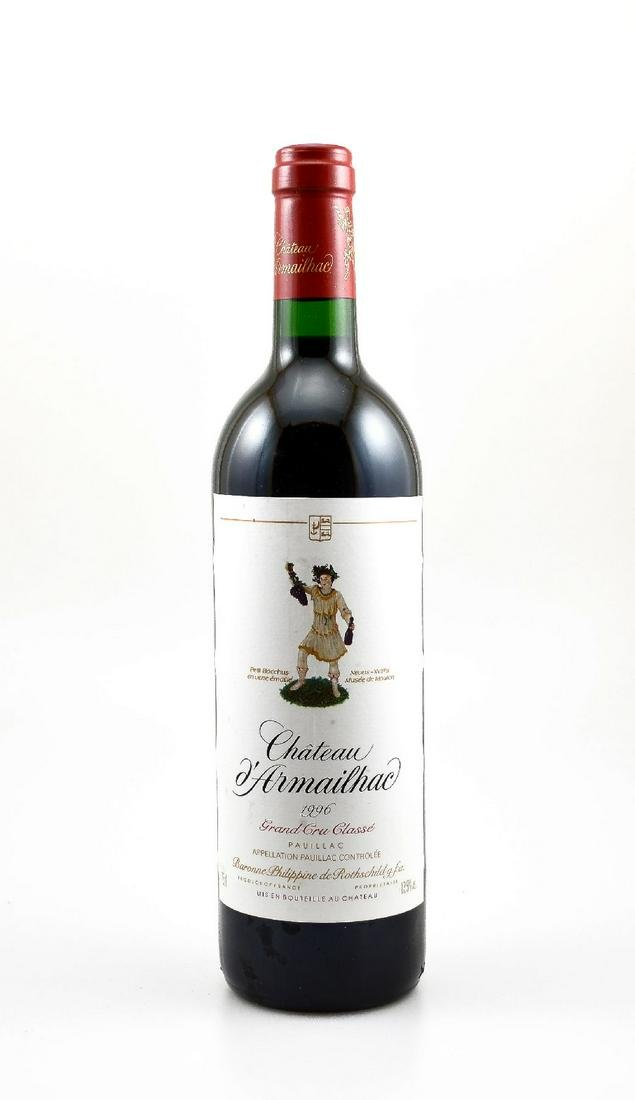 2 bottles of 1996 Chateau d'Armailhac Baron Philippe de