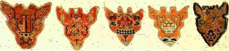 (5 Lots) Tibetan Shigatse 'Animal-Head Jewelery'