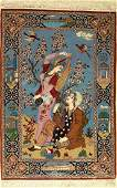 Fine Isfahan Rug, Persia, approx. 40 years, wool with