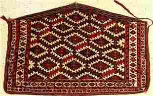 Asmalyk antique, Turkmenistan, around 1900, wool on