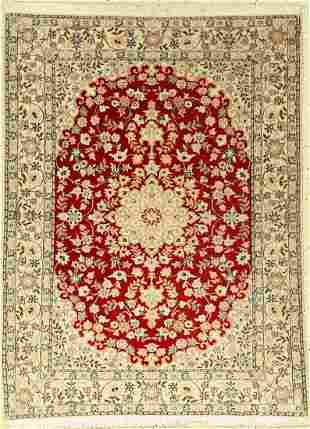 Fine Nain Rug (6LA), Persia, approx. 20 years,wool with