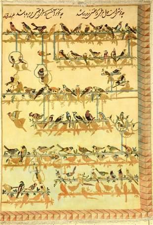Tabriz 'Chehel Tutti' Rug, Persia, approx. 40 years,