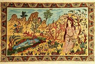 Fine Tabriz Rug, Persia, approx. 30 years, wool